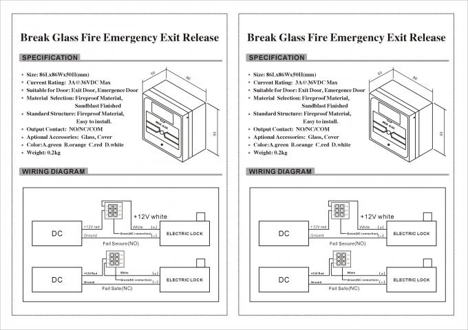 Emergency Break Glass Door Release Manual Fire Alarm Call