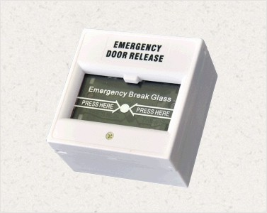 Red Break Glass Emergency Call Point , Emergency Door Release Button