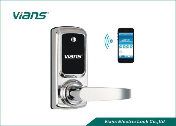 Electric Bluetooth Enabled Door Lock , Wireless Home Door Lock Controlled  By Smartphone