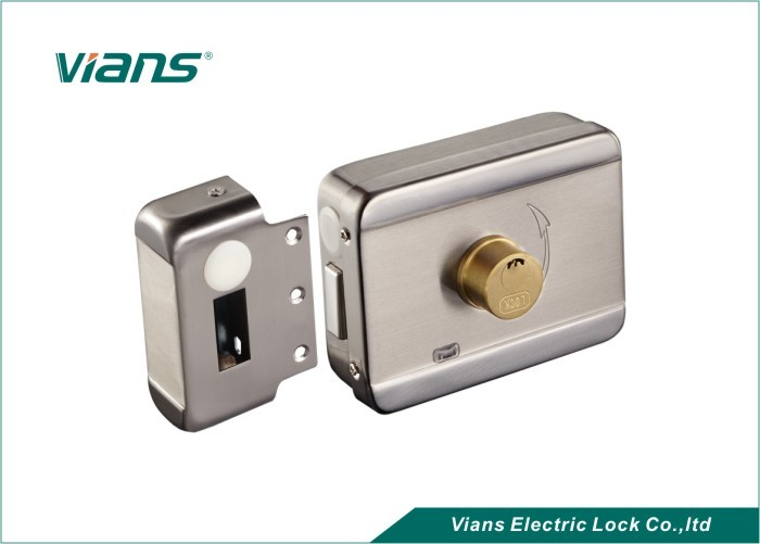Electric Rim Door Lock With Brass Cylinder , Electronic Door Locks For Homes