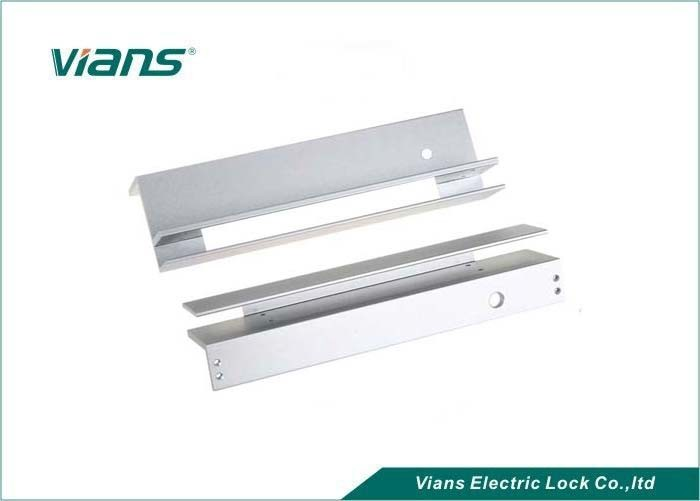 Stainless Steel F Type Magnetic Lock Brackets For Glass Door