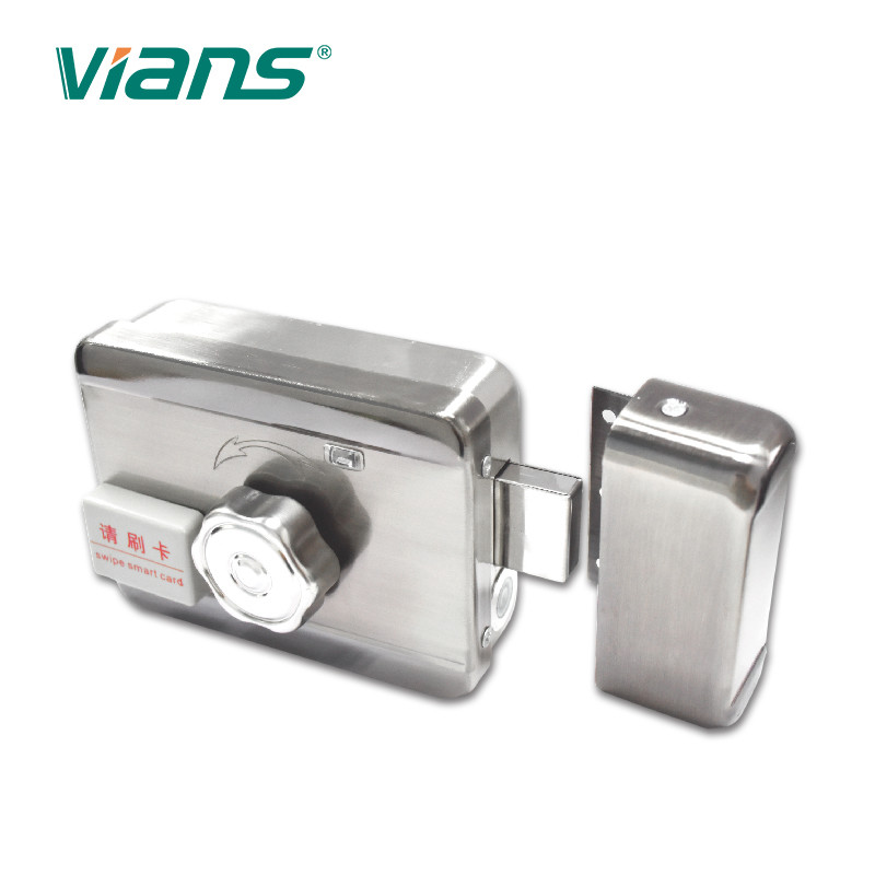 All In One Mute Electric Motor Lock Intelligent Nickel Plating Finish With Metal Gear