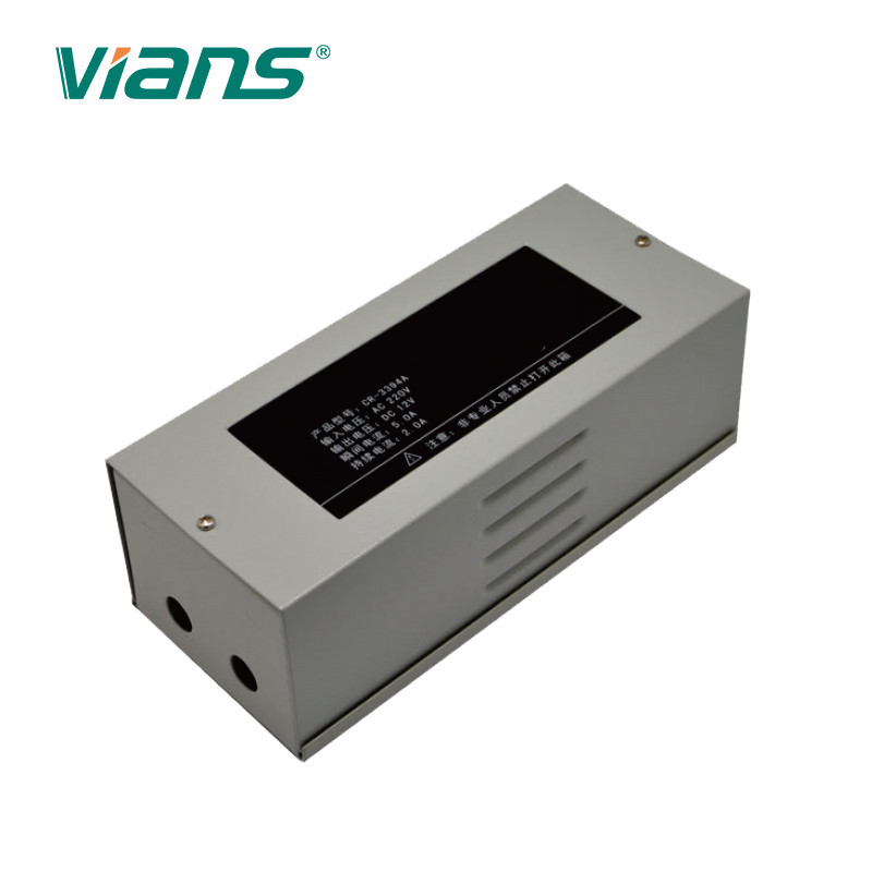 Aluminum Alloy Access Control Linear Power Supply 12V/3A 12V/5A For Lock Exit Button