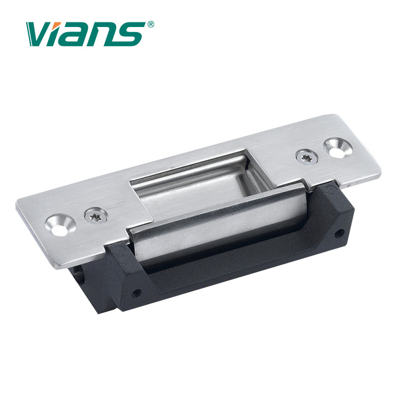 Stainless Steel Fail Safe Electric Strike Gate Lock Short Panel For Wooden /Metal/ PVC Door