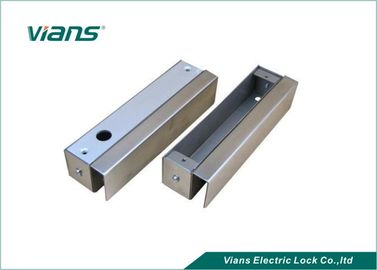 China Electronic U Shaped Metal Bracket For Bolt Lock Frameless Glass Door factory