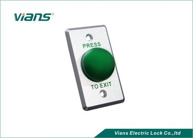 Aluminium Mushroom Green Dome Exit Button , Door Release Switch For Access Control