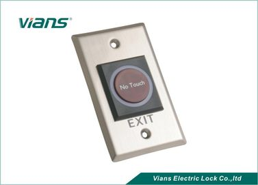 Security Infrared Sensor Door Exit Button , Door Exit Switch For Entry Systems