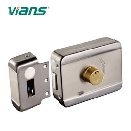 China Electric Rim Door Lock With Brass Cylinder , Electronic Door Locks For Homes factory