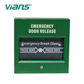 China Fire Alarm Emergency Call Point , Emergency Break Glass Button Finished Material factory